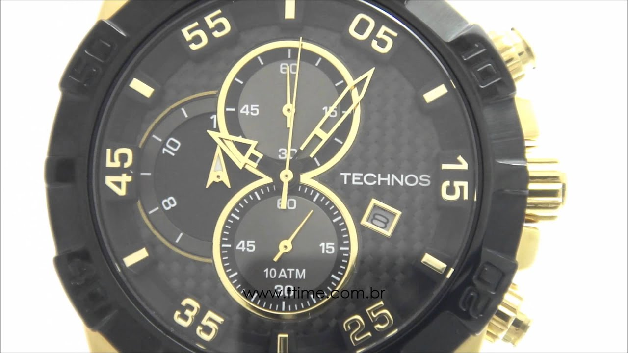 Relógio Technos Performance TS Carbon OS10ET 8P - YouTube dd4e117d53