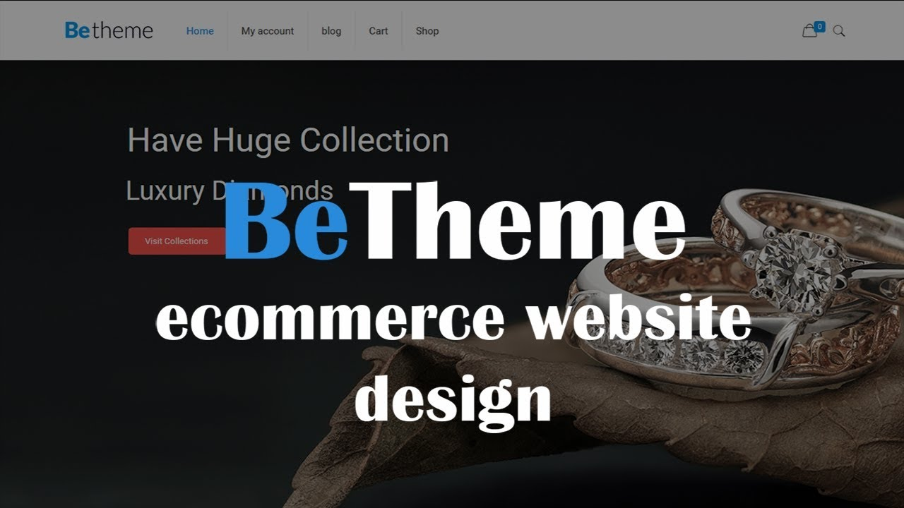 Create an ecommerce website in wordpress 2019 woocommerce.