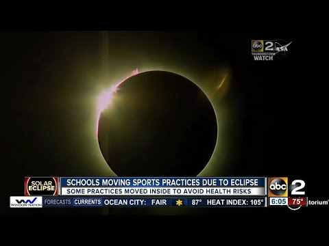 Maryland schools move sports practices in light of eclipse