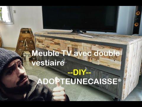 [ TUTO TIMELAPSE ] Meuble avec double vestiaire By ADOPTEUNECAISSE® DIY MAKER