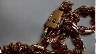 Цепочка из серебра 925 пробы ручной работы якорь, якорное плетение позолоченный