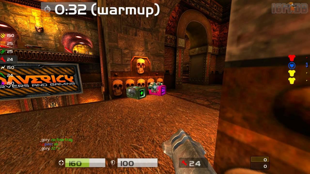 Quake Live: Quake Live duel match Capwn-vs-_gory on Bloodrun