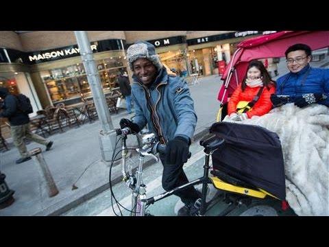 With Pedicab, Driver Makes a Life in New York City