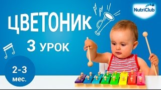 Детский массаж. Развитие ребенка 2-3 месяцев по методике