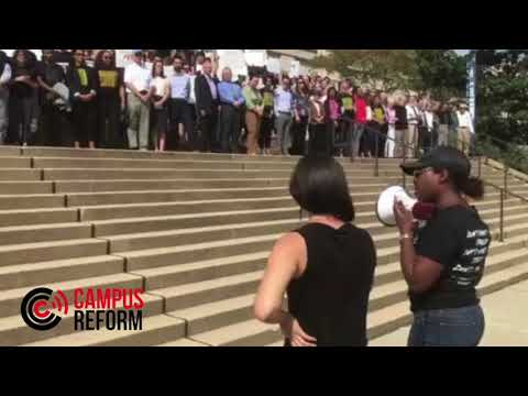 Georgetown students and faculty protest Jeff Sessions speech at Georgetown Law