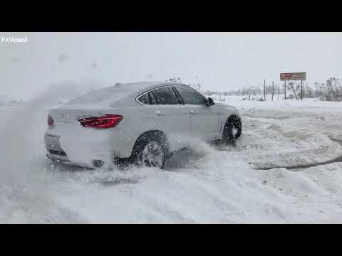 BMW X6 - Russian winter - drift - Iphone X slow motion 240fps