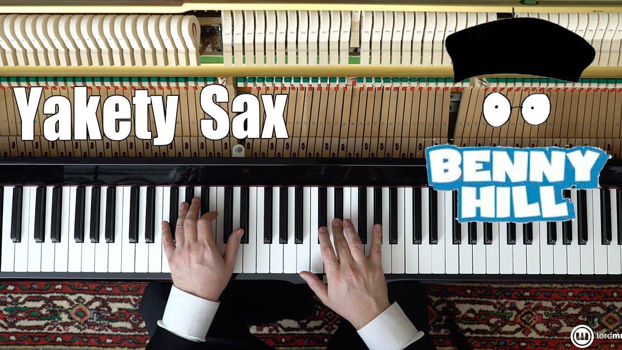 Yakety Sax - Benny Hill Theme - Piano Tutorial