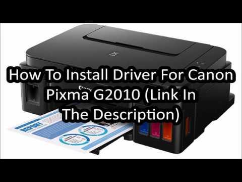 Driver Installation For Canon Pixma G2010 (Link In The Description)