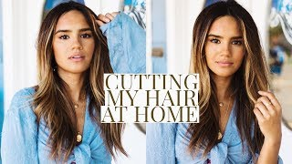 DIY HAIRCUT WITH LAYERS! CUTTING MY OWN HAIR | DACEY CASH