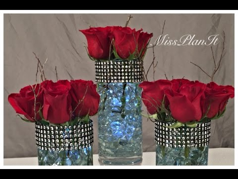Diy Dollar Tree Wedding Centerpiece Vase For 200 Youtube