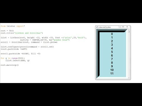 How to Create a Listbox with Scrollbar in Python