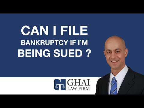Can I File Bankruptcy If I'm Being Sued?