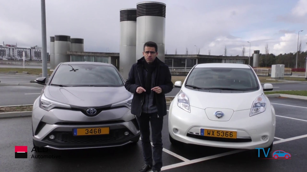essai comparatif voiture hybride lectrique toyota c hr vs nissan leaf 2017 youtube