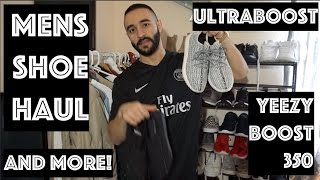 Men's shoe and sneaker haul ! | YEEZY BOOST 350, Adidas Ultraboost and more!