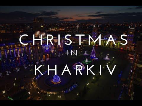 Christmas in Kharkiv, Ukraine - aerial view | Phantom 4 Pro | Новогодний Харьков 2018, аэросъемка
