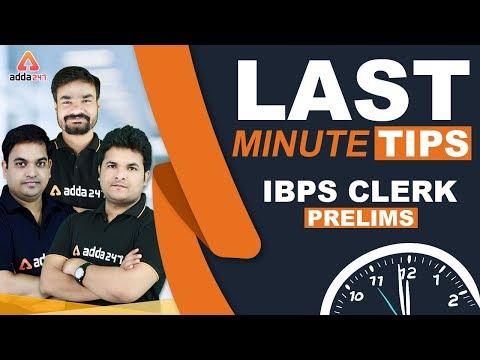 IBPS Clerk 2019 Prelims | Last Minute Tips & Tricks (DI - Puzzle - Reading Comprehension)