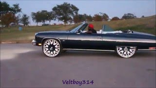 veltboy314 donuts in a 1975 vert donk 572 big block on 28 forgis
