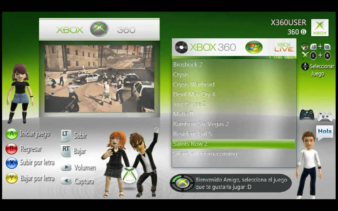 Xbox360 system 2 3 interfaz xbox360 en pc leer info del for Sillas para jugar xbox