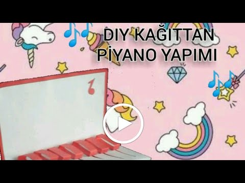 DIY 🎶Kağıttan piyano yapımı🎹