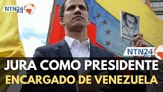 Guaidó se juramentó como presidente encargado de Venezuela