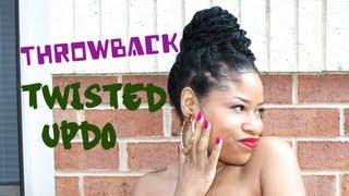 Throwback Chunky Twisted Bun | Natural Hair Tutorial