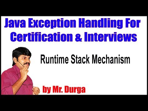 Java Exception Handling || Runtime Stack Mechanism|| by