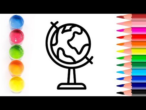 GLITTER ✨ We draw an EARTH GLOBE 🌎 COLORING and drawing 💫