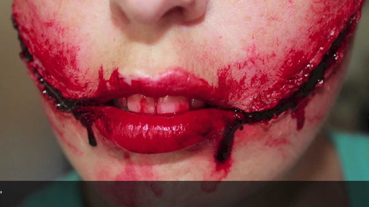 Chelsea Grin/ Glasgow Smile Fx makeup - YouTube