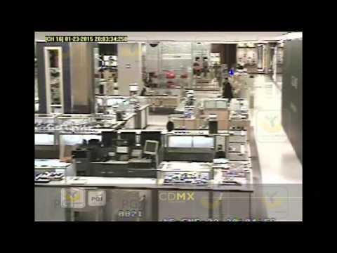 Asalto y balacera en joyería de Centro Comercial Santa Fe