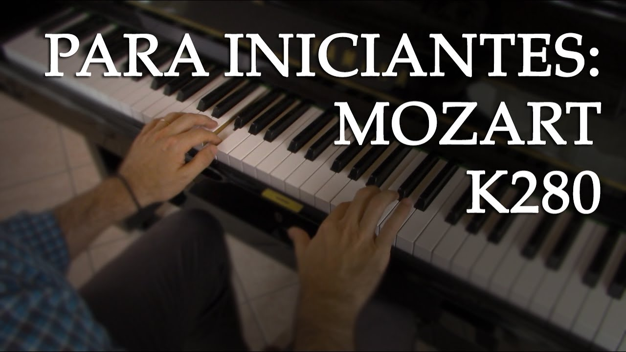 Melodia para iniciantes com complicação rítmica (Mozart