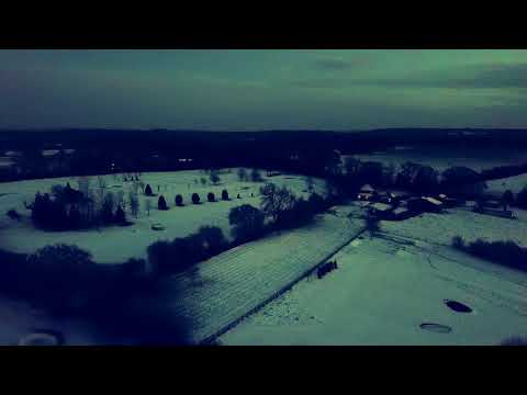 Flying a drone in a blizzard and at sunset