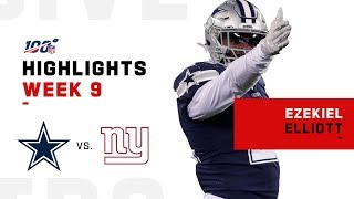 Ezekiel Elliott Bulldozes His Way to 139 Yds   NFL 2019 Highlights