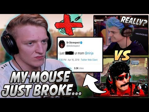 Ninja VS HACKED DrDisrespect! Tfue ANGRY After Breaking His MOUSE In A Pro Game!