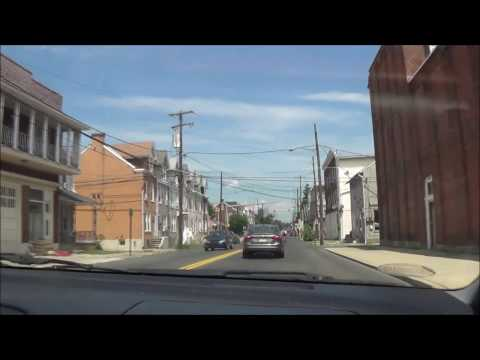 Driving around Downtown Allentown, PA