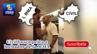 Civil Busca pelea sin saber a Luchador de MMA, Mira que pasa!