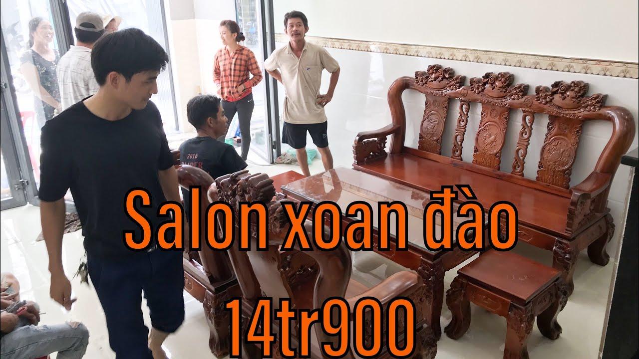 #noithatgiare #salonxoandao Bàn ghế phòng khách xoan đào hàng đẹp chất giao nhà khách
