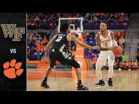 Wake Forest vs. Clemson Basketball Highlights (2018-19)