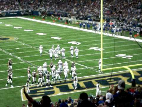 Touchdown Joseph Addai at Rams