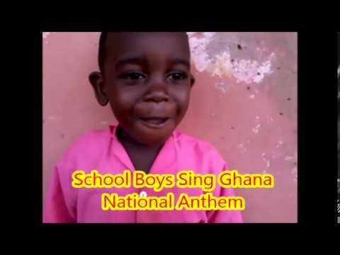 School Boys Sing Ghana National Anthem