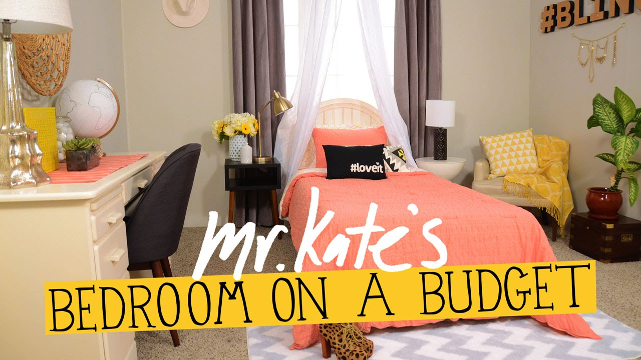 Bedroom on a budget diy home decor mr kate youtube for Home decor on a budget