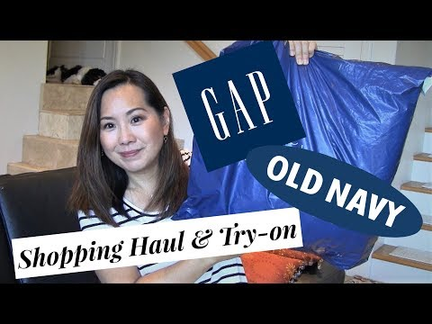 """Gap & Old Navy Clothing Haul & Try-on 