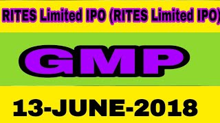 RITES Limited IPO  GMP