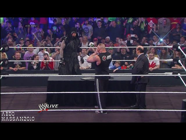 WWE - M.N.R 2/24/2014 The Undertaker Returns And Challenges Brock Lesnar At WM 30 Travel Video