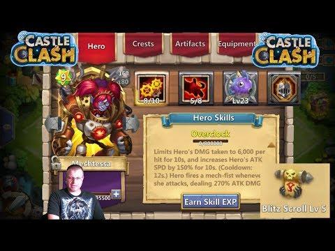 Evolving MECHTESSA New Hero Game Play Castle Clash