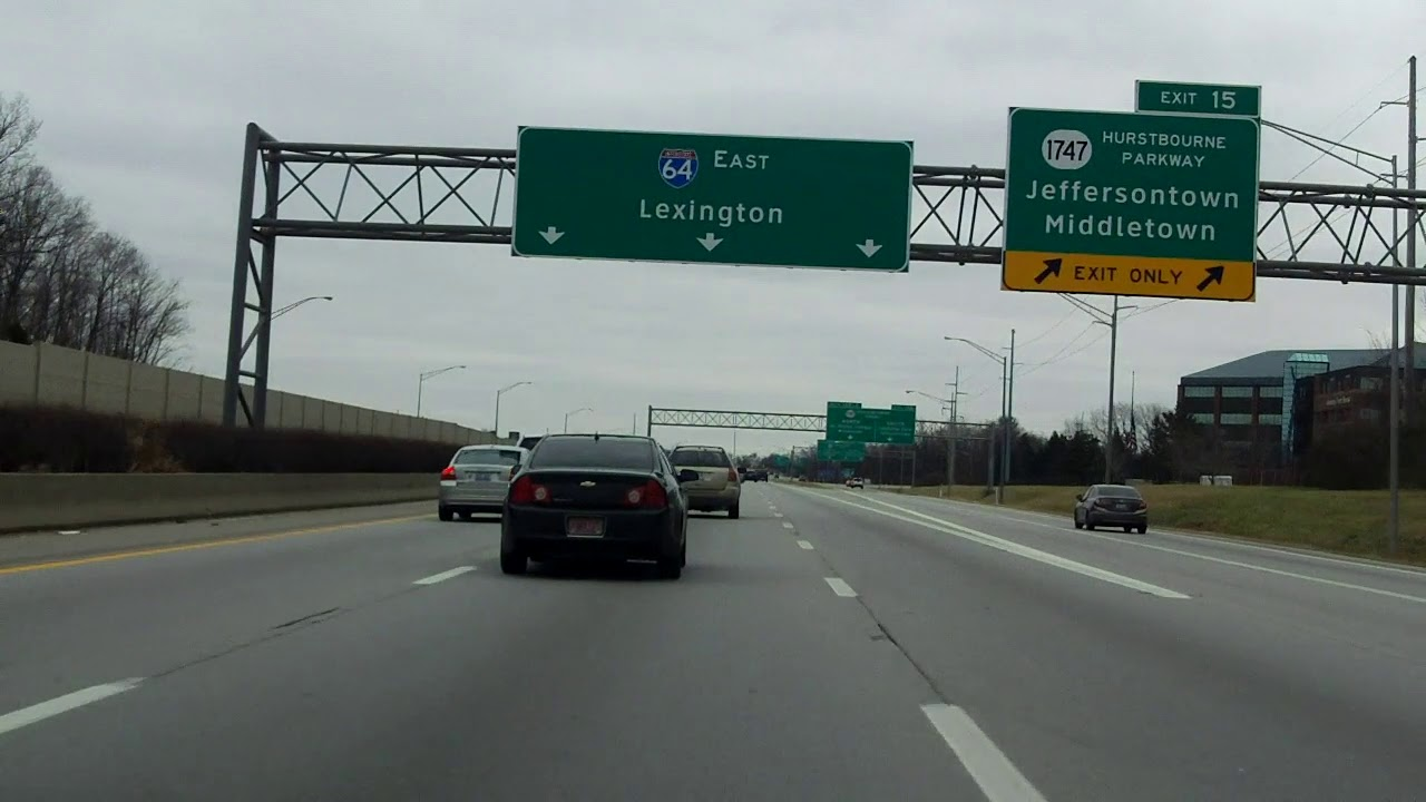 Interstate 64 - Kentucky (Exits 12 to 19) eastbound