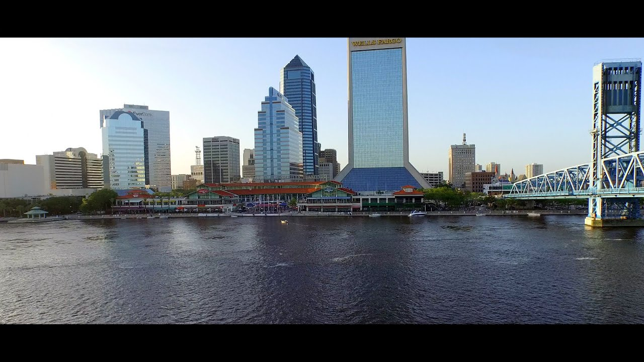 downtown jacksonville aerial drone video youtube. Black Bedroom Furniture Sets. Home Design Ideas