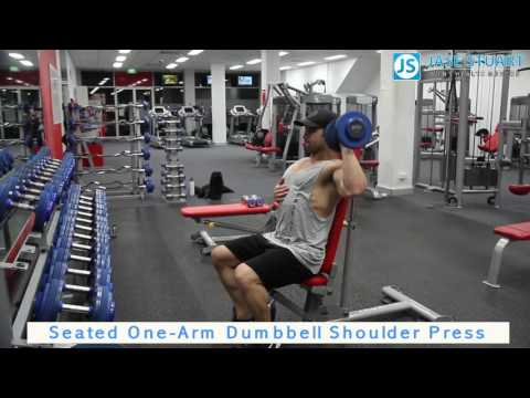 Seated One Arm Dumbbell Shoulder Press
