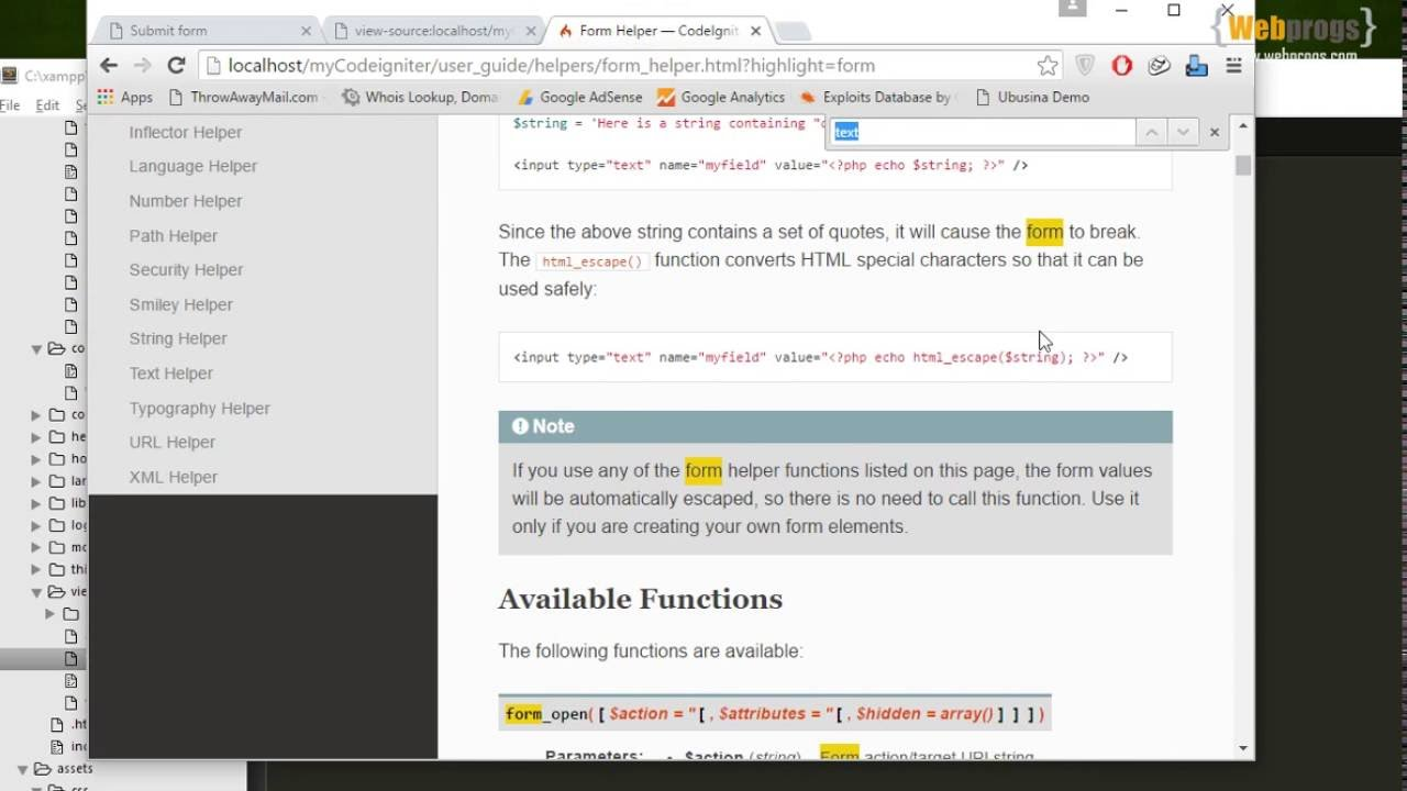 6 - Submitting input using form on codeigniter for beginners