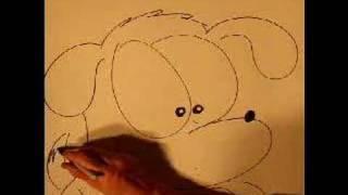 Bir karikatür köpek çizmek için nasıl adım adım öğrenin.