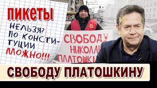 Пикеты. Свободу Платошкину! Новосибирск против судилища по политическим мотивам!